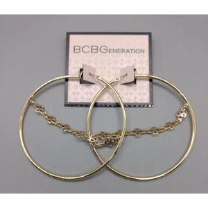 New BCBGeneration Large Hoop Earrings